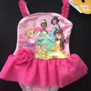 Disney Princesses Toddler Girl Tutu Swimsuit